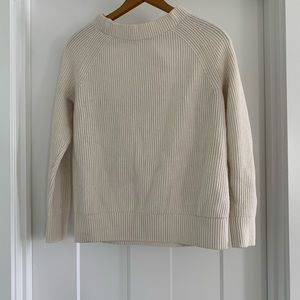 Banana Republic Cream ribbed sweater with bow back